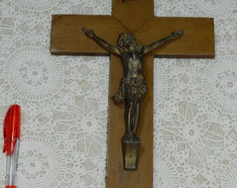old beautiful Crucifix, antique Crucifix.  vintage. french vintage 1930's cross