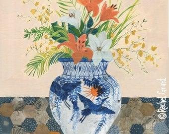 Oriental Vase Original Painting