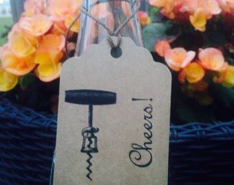 CHEERS! Wine tags/ wine favor tags