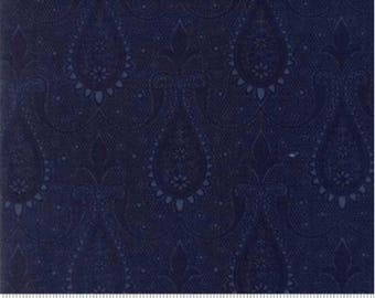Sweet Blend Prints by Edyta Sitar of Laundry Basket Quilts for Moda 42293 15 Paisley Blueberry