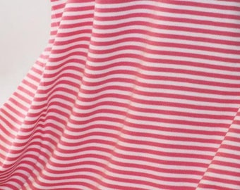 Rapture Rose Stripes - C-Pauli - Organic Cotton Double Knit  UK Seller