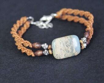 Boho Chic bracelet Jasper Aqua Terra