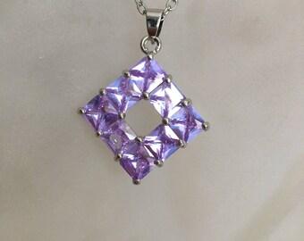 Lavender Cubic Zirconia Pendant
