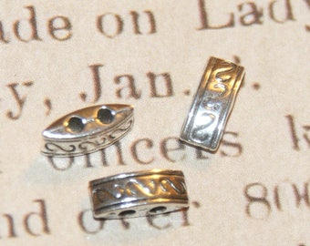 4 spacers 2 fine silver metal 9 rows, 5x4mm