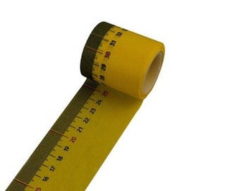 Masking tape wide tailor tape measure yellow/black - masking tape Japanese washi paper