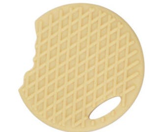 Teether chewed 65x59mm wafer biscuit