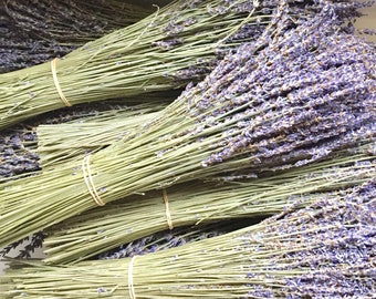 2 Bunches Dried English Grown Fragrant Blue Lavender