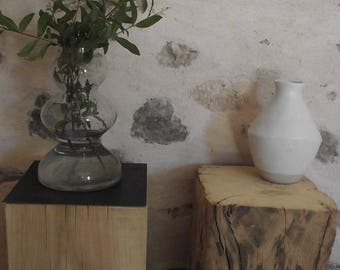 Pieces of solid oak bedside table