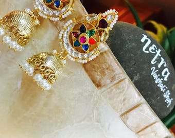Polki Kundan earrings