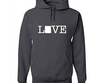 Love Colorado Hoodie, Colorado Sweatshirt, Home, State