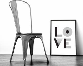 affiche minimaliste etsy. Black Bedroom Furniture Sets. Home Design Ideas