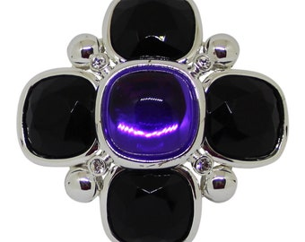 Joan Rivers Classics Collection Purple Brooch/Pin 20th Anniversary Limited Edition Designer Jewelry Statement Jewelry Gift For Her Bridal