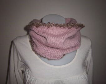 Choker made of wool and alpaca (Pink).