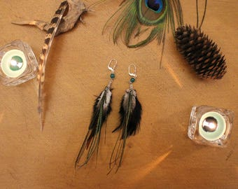 Pair of earrings feathers - Lara