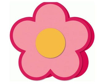 Spring Time Flower Power , Blank Card , Free Confetti , Free Shipping , Girls , Women , Kids, Teens , Adults , All Occasions , PaperCut