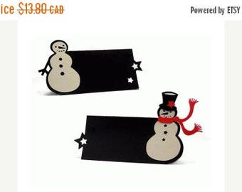 SALE Christmas In July Snowman Place Cards for Christmas Dinner Set of 12 , Dinner Party , Adults , Kids , Decor , Holiday