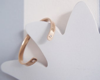 Gold plated Bangle and CZ - gold plated bangle