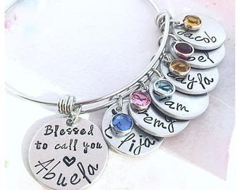 Blessed to call you Abuela, Abuela Bracelet, Personalized Abuela Gift, Mother's Day Gift for Abuela, Abuela Gifts, Gifts for Abuela