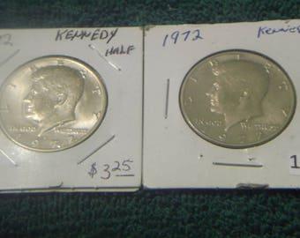 1972 P/D Kennedy Half Dollar