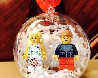 Lego Christmas Gift - personalised bauble