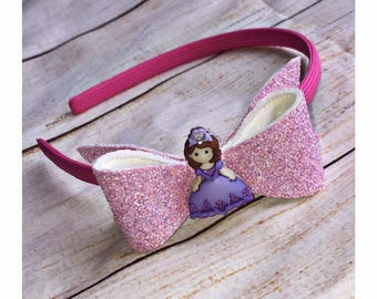 Pink Princess Glitter Headband