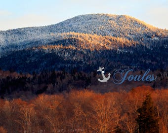 Spruce Peak Panoramic ~ Stowe, Vermont, Skiing, Mountain, Snowboarding, Art, Artwork, Photograph, Joules, New England, Snow, Winter