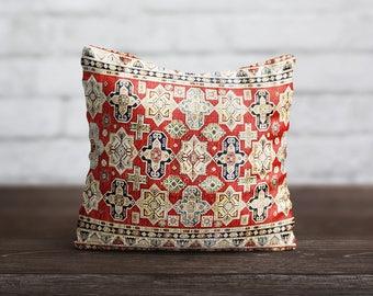 Persian Carpet Pillow Morocco PillowCase Geometric Cushion Cover Persian Rug Vintage Pillow Living Room Luxury Home Decor Throw Pillow Cover