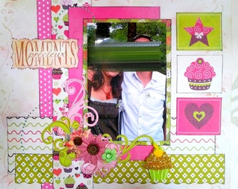 collection of 3 coordinated 30cmx30cm theme scrapbooking pages.