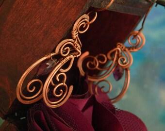 Fucse * enigmatic earrings