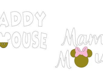 mama mouse, daddy mouse, minnie mouse, minnie mama, couples disney shirt, disney, iron on decal, disney iron on, heat transfer decal