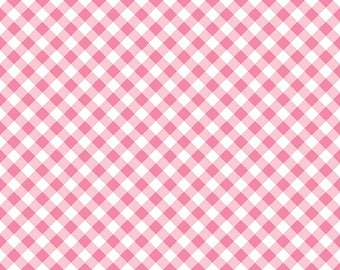 Pink Diagonal Check Fabric from Riley Blake's Wonderland Two Collection