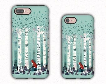 Fox in the woods iPhone 7 Case, Galaxy S8 case, custom case for iPhone 7+, 7, iPhone 6 case, Galaxy S8+, S8, S7Edge, A3, A5,J5,J7, LGG6 LGG5