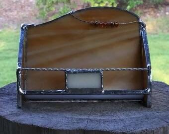 Stained Glass Business Card Holder - Custom - Handmade - Business Associate Gift - Co-worker Gift