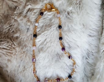 Purple Agate Anklet
