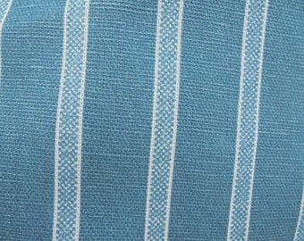 Marcus Brothers Fabric Civil War White Blue Navy Stripe