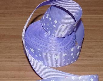Purple Ribbon white stars.