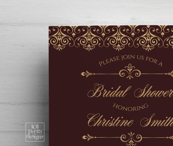 Elegant printable bridal shower invitation pink gold invitations art il570xn filmwisefo