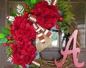 Alabama Grapevine Wreath | Alabama Football Wreath | Roll Tide Wreath | Red Hydrangea Flowers Wreath | Etsy  Wreaths