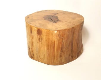 "Rustic Wood slab Dessert stand ~ Wedding, graduation, reunions, 6.5 x 6.5"" diameter 4' height ~ Table Centerpiece, cupcake stand, birthdays,"