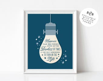 Harry Potter Quote 8x10 Poser Print | Dumbledore Quote Print | Happiness Quote | Home Decor | Harry Potter Wall Art | Inspirational Print