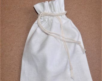 "25 White Cotton Favor Bags * Fabric Favor Bags * Craft Supply * Cotton Favors *Natural Bag * 5.5"" x 7""(14cm x 18cm)"