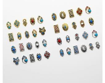 Bohemian Boho Vintage Retro nail charms, Nail jewels, Nail jewelry, Nail decoration, Nail art, Nail designs, Nail art designs