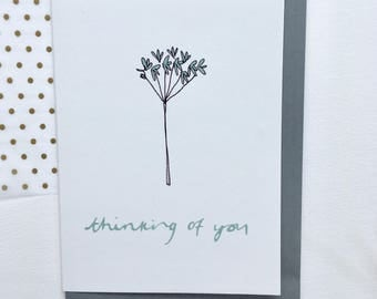 Thinking of you greetings card