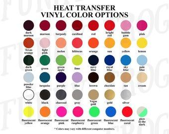 Siser Color Chart Etsy