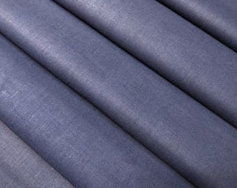 Deep indigo blue cotton Kimono juban lining fabric