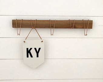 Home state wooden banner