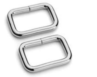 "1"" Square rings 4 Pk Nickel"