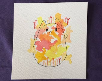 Cute cat Original Watercolour
