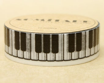7M X 15mm The keys of the piano Washi Tape, keys at a piano Masking tape, Craft Tape , decor sticker gift