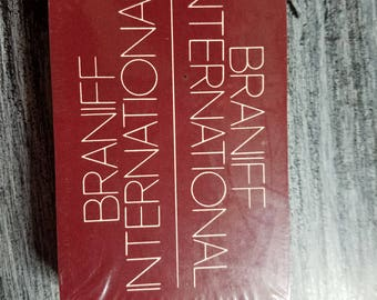 Vintage BI  BRANIFF INTERNATIONAL  sealed deck playing cards